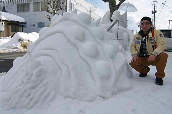 オームの雪像