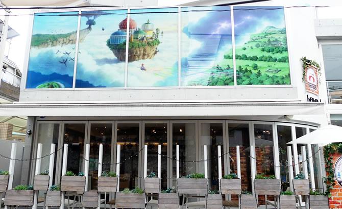 『メアリと魔女の花』ガーデンサンドカフェ