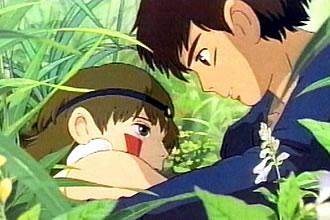 『もののけ姫』サンとアシタカ