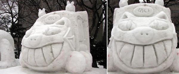 ジブリの雪像