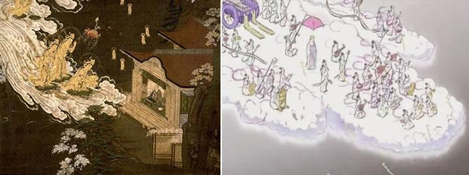 かぐや姫の物語 阿弥陀来迎図