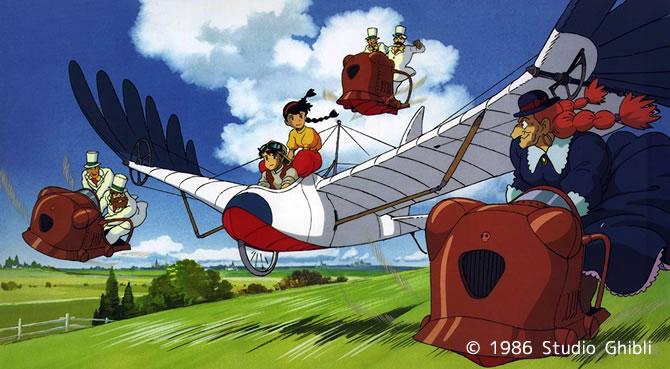 天空の城ラピュタ 鳥型飛行機