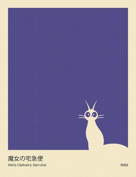 ジブリ・ミニマルデザインのポスター
