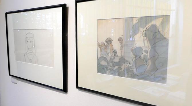 もりやすじ原画展「もぐらのスタジオ」