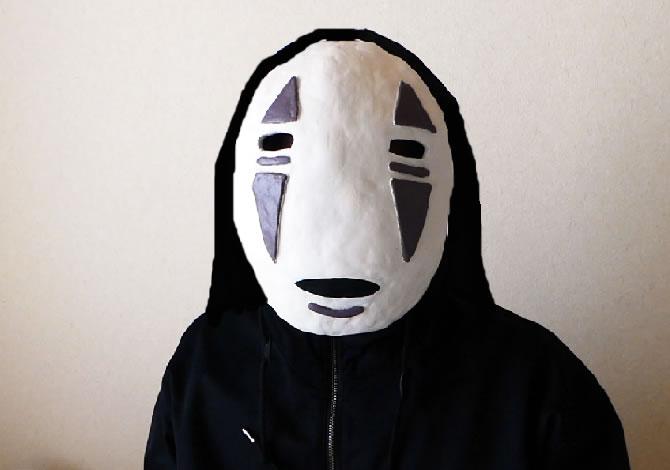 粘土 カオナシ 仮面