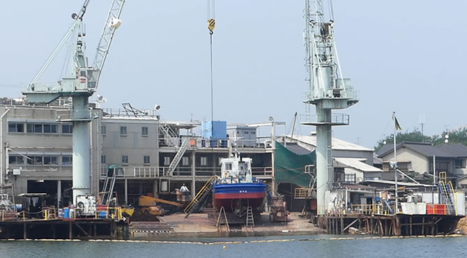 ジブリ旅 鞆の浦 造船所