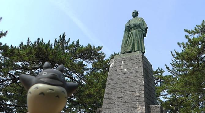 ジブリ旅 高知 桂浜 龍馬像